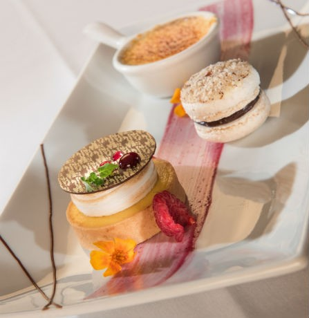 Trio of Deserts on Gala Menu