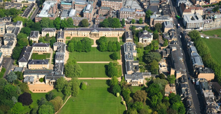 Aerial View of Downing College